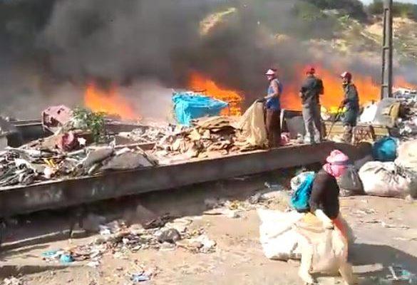 Incêndio destrói materiais de reciclagem em galpão em Natal